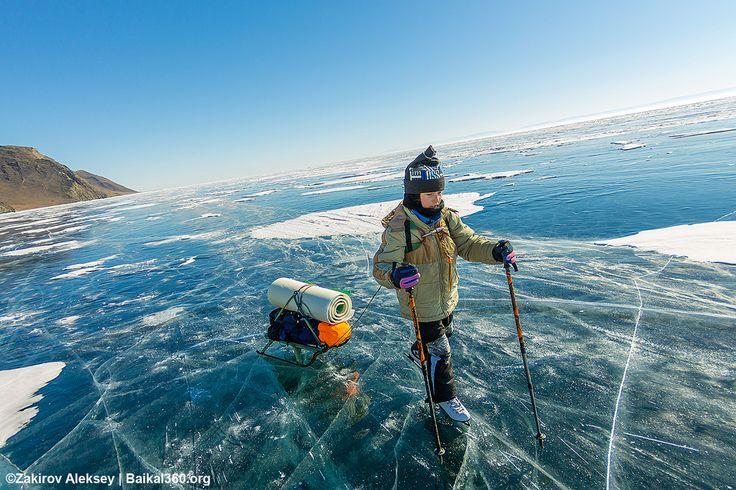 Ей всего 10, а она уже прошла 200 километров по льду Байкала. А что интересного произошло в твоей жизни?  #baikal360 #baikal #Байкал #Ольхон #ледбайкала №здесь_можно_жить #ice ##живи_на_байкале #лед #ice #olkhon