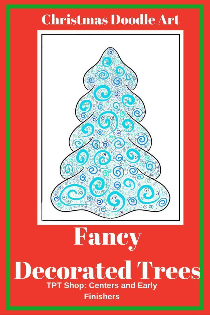 Here is a doodle art activity for Christmas and the winter holidays that students will enjoy. Examples and directions are provided. Could be an art center or easy art lesson. #ChristmasArtActivity #ChristmasTree #ChristmasDoodle #christmasColoring