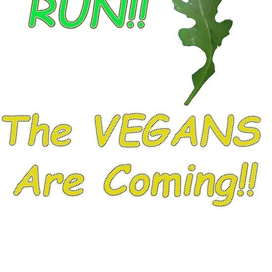 Run!! The vegans are coming!! Scared rocket leaf