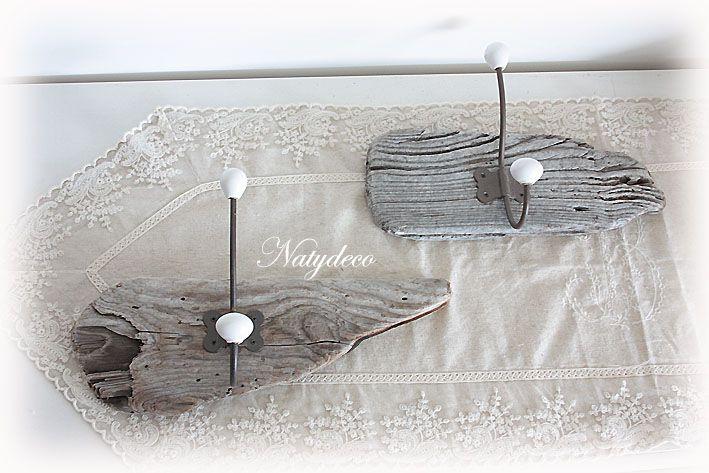 1000 images about d coration en bois flott on pinterest for Porte manteau en bois flotte