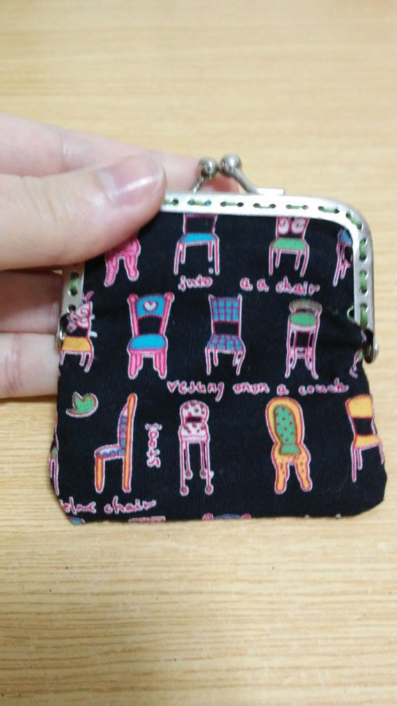 Purse printed fabric by Zampithings on Etsy / Monedero de tela estampada