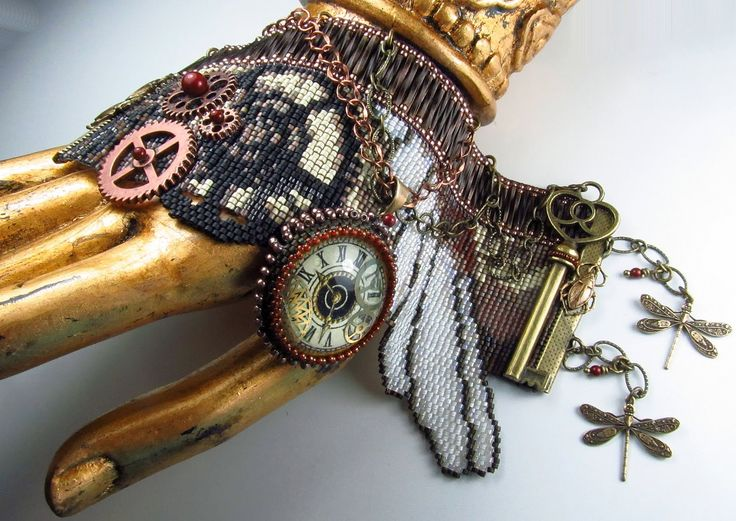 The Steampunk culture takes its cues from the Victorian era, while speculating how the world would be different if steam power was the driving force. Description from beadsbeadingbeaded.blogspot.co.uk. I searched for this on bing.com/images