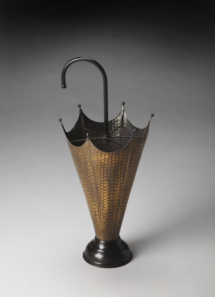Hors D'Oeuvres Poppins Antique Brass Umbrella Stand