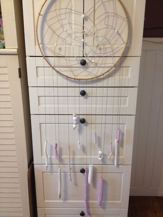 Gold Pink & White Dream Catcher by Unicorns4Evaa on Etsy, $120.00