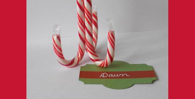 Create Candy Cane name card holders for your holiday dinner and learn how easy it is to decorate with Glue Dots! Designer Dawn shows you how!