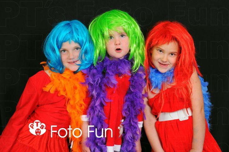 Christmas pop with wigs, Mahoney girls