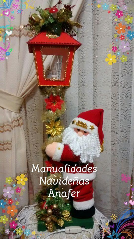 En esta Navidad, no puede estar sola nuestra bella Sra. Claus... Es por ello que presento el Farol Noel, ideal para colocarlo junto al Faro...