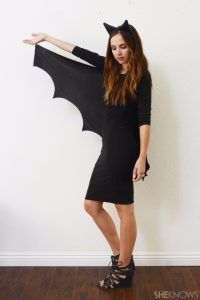Best DIY Halloween Costume Ideas - easy-diy-bat-halloween-costume - Do It Yourself Costumes for Women, Men, Teens, Adults and Couples. Fun, Easy, Clever, Cheap and Creative Costumes That Will Win The Contest http://diyjoy.com/best-diy-halloween-costumes