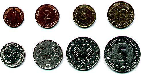 Unsere gute alte D-Mark: 1 Deutsche Mark = 100 Pfennig