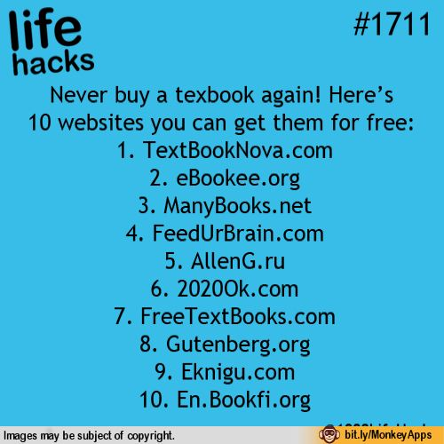 Remember this. Free textbooks