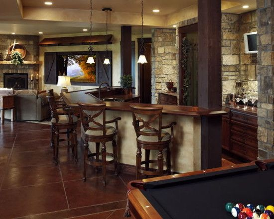 Rec room bar design pictures remodel decor and ideas for Rec room decorating ideas