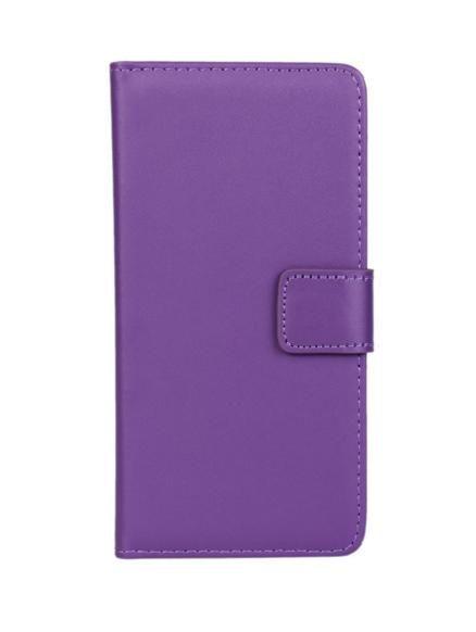 Wallet Case Θήκη Πορτοφόλι με Δυνατότητα Stand + Μεμβράνη Οθόνης Μωβ (Sony Xperia Z5 Compact)