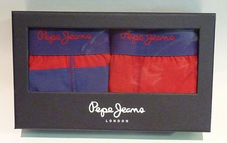 Pack de 2 boxers Pepe Jeans stefan - ENVÍO 24/48h - G5 F3307 - Boxers de pierna media con goma vista en marino y logo de la marca en rojo. http://www.varelaintimo.com/marca/39/pepe-jeans