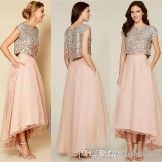 The 25  best Two piece bridesmaid dresses ideas on Pinterest ...