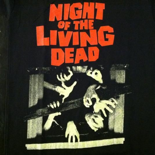 Vintage 1980's Night of the Living Dead horror movie t-shirt