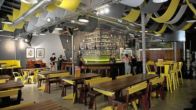 Home of beer: The Beerhouse in Cape Town where the best brews, from South Africa and around the world, are served. (David Harrsion, M&G)