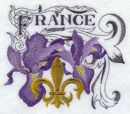 Fleur de Lis and France Embroidered Cotton Terry by VelvetHearts, $18.00