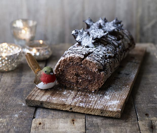 Yule log   Recipe   Robins, Sweet and Blueberry biscuits