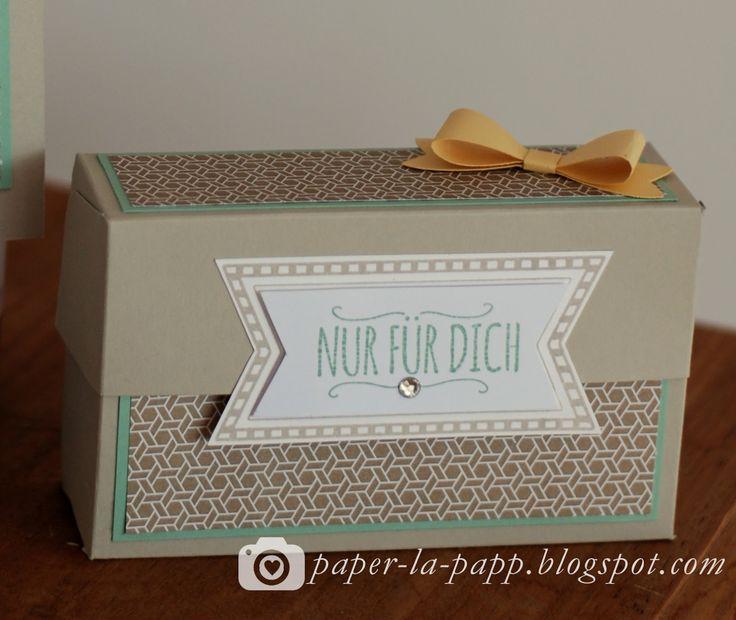 Auf vielfachen Wunsch zeige ich heute die Anleitung für die kleine Geschenkbox , ihr benötigt nicht mehr als ein Blatt DIN A4, euer Schn...
