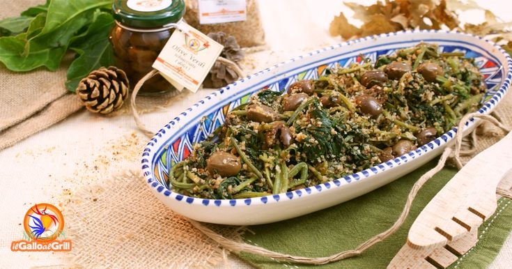Bietole e olive in padella