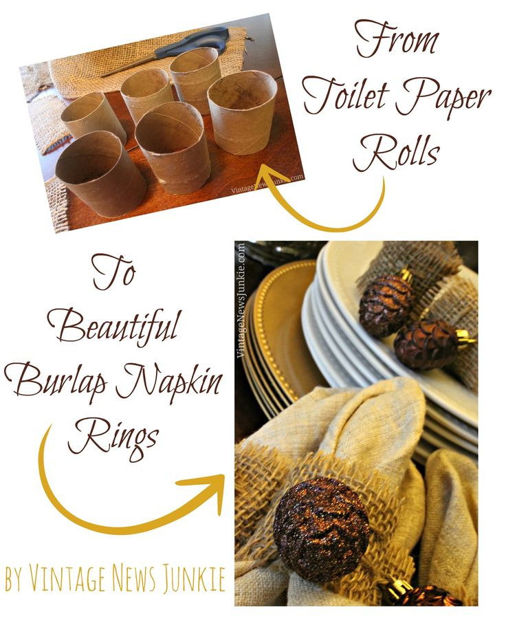 How to Make Burlap Napkin Rings for Fall by Vintage News Junkie