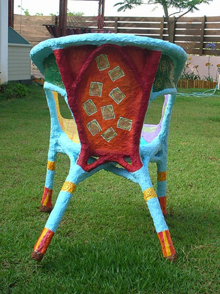 17 best images about papier mache chair on pinterest for Paper mache furniture ideas