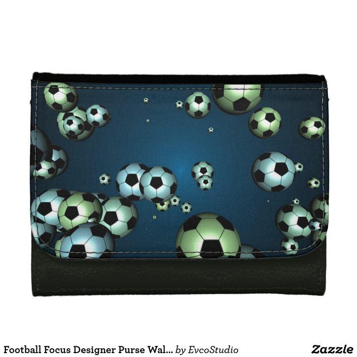 Football Focus Designer Purse Wallet