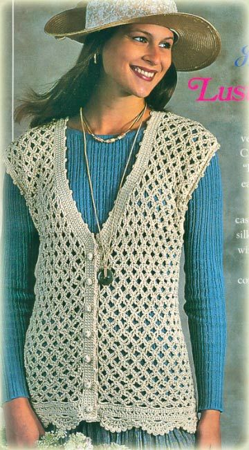 Free Crochet Patterns Vests Beginners : crochet vest pattern - Google Search Heklane bluze ...