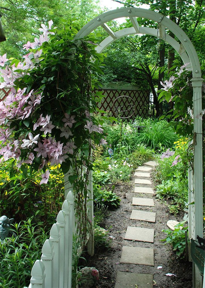 lovely arbor and garden path