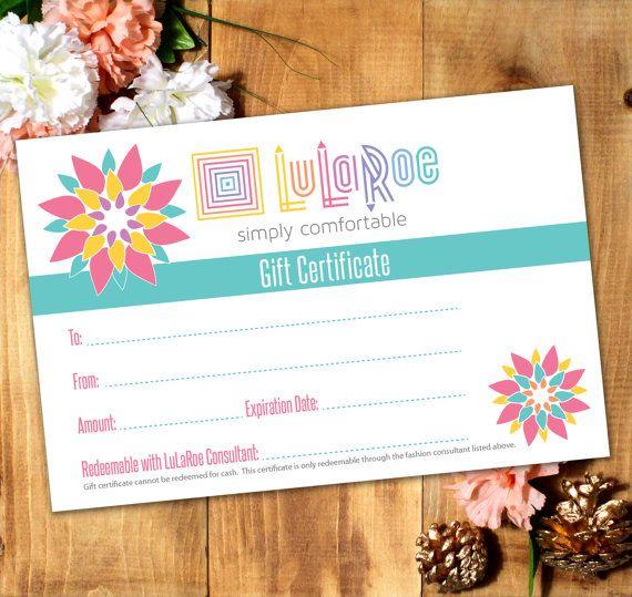 LuLaRoe Gift Certificate Printable/Digital by artandheartprints