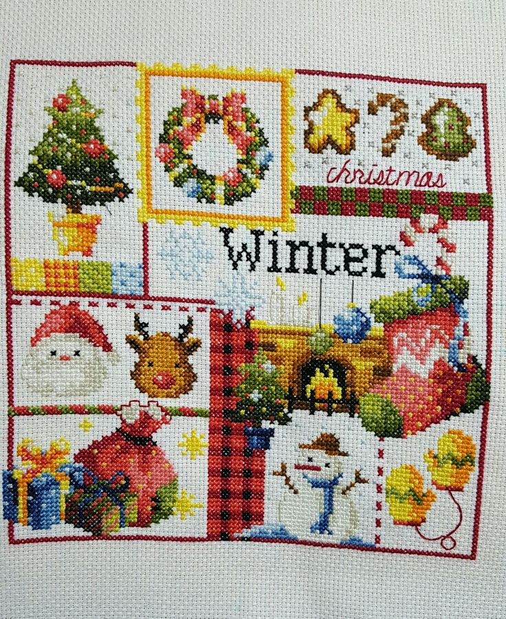 Winter/Christmas  (1 of the 4 seasons cross stitch patterns i am working on)
