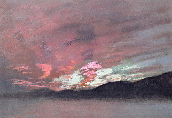 Stormy Sunset from Brantwood , John Ruskin