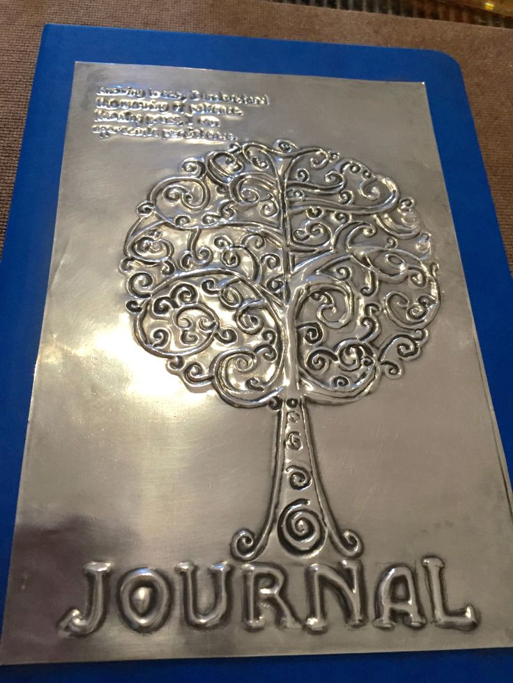 Beginner's Pewter Journal Workshop ***Bronwyn's Tree of Life - October 2016