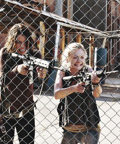 """Maggie & Beth Greene """"Too Far Gone"""" (they really need to learn how to hit their targets with those rifles)"""