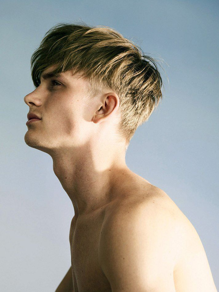 Blonde Short Sides Long Top Haircut for Guys