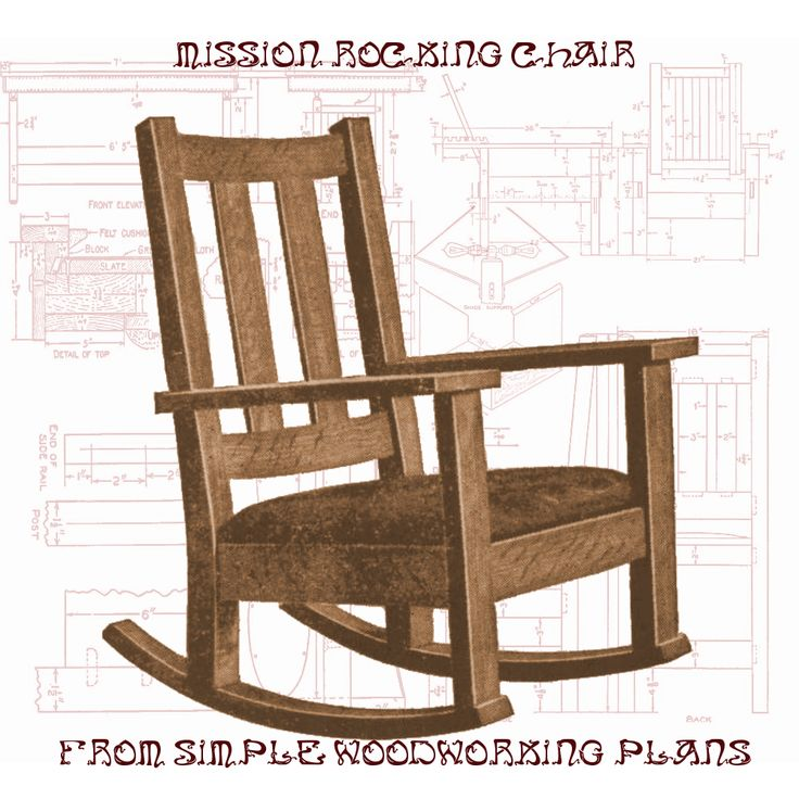 Craftsman rocking chair woodworking plan woodworking for Craftsman furniture plans