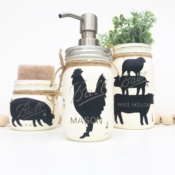 Farm Animal Kitchen Set Farmhouse Kitchen Rustic Kitchen