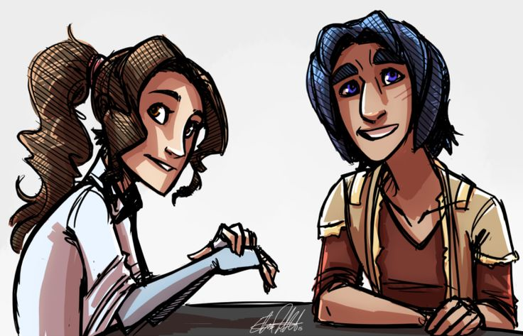 Princess Leia and Ezra Bridger ~ *sigh* I wish that they had more of a connection in the episode Leia was in than they actually did. I know Leia is supposed to act older than she is because she's in the government, but seriously, they're the same age... have a bit more chemistry here, would ya!