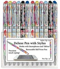 Floral Writing Pen with Touchpad Stylus - Pens & Desk Accessories - Roses And Teacups - 1