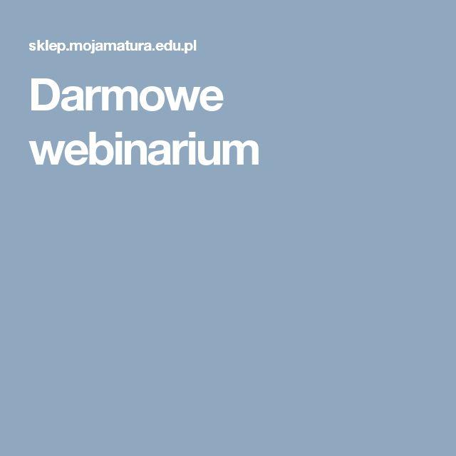 Darmowe webinarium