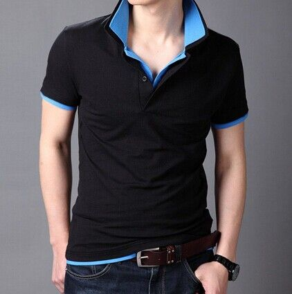 Double Layered Turn Down Collar Short Sleeve Color Block Slimming Cotton Polo Shirt For Men Color: PURPLE AND WHITE, AZURE, BLACE AND WHITE, BLACE AND GREEN, BLACK AND PURPLE, GREY AND WHITE, BLACK AND GREEN, BLACE AND BLUE, ROSE MADDER Size: M, L, XL, 2XL Category: Men > Men's T-Shirts & Vest   Material: Cotton  Sleeve Length: Short  Collar: Turn-down Collar  Style: Fashion  #solidcolortshirtmen #solidshirts #mentshirts #cottontshirts #bridgat.com