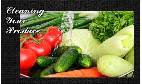 Cleaning Your Produce
