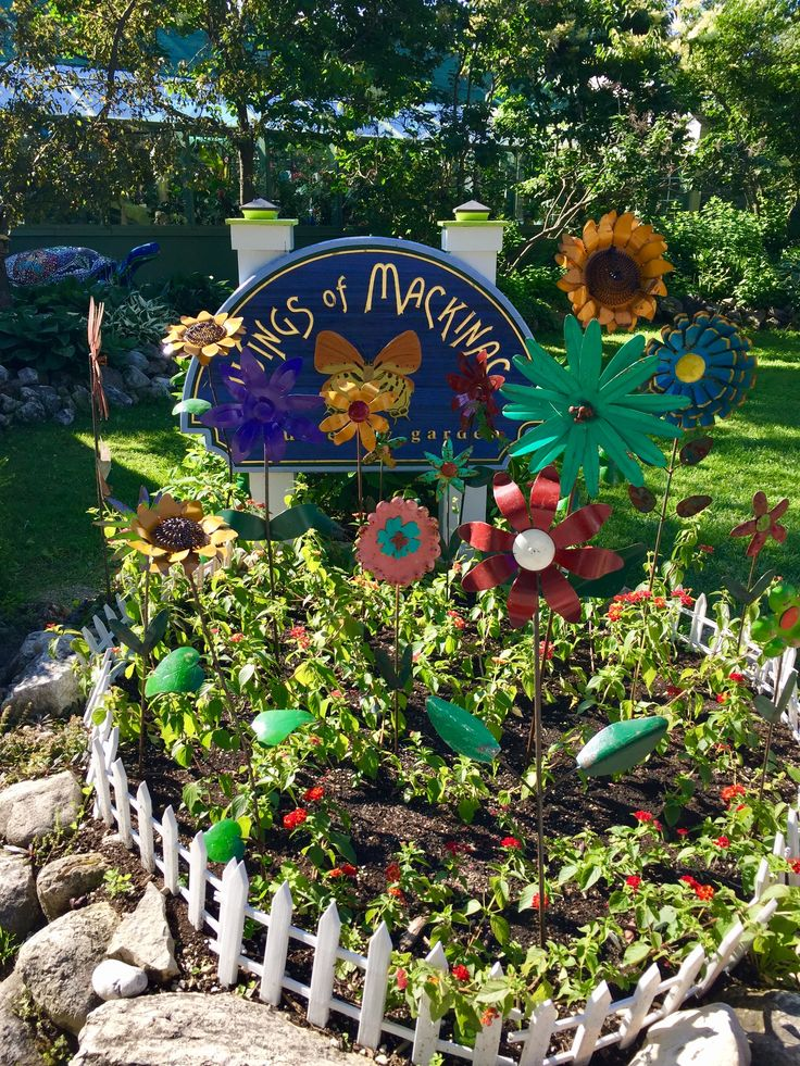 Cheerful entry to The Butterfly Museum on #Mackinac Island.