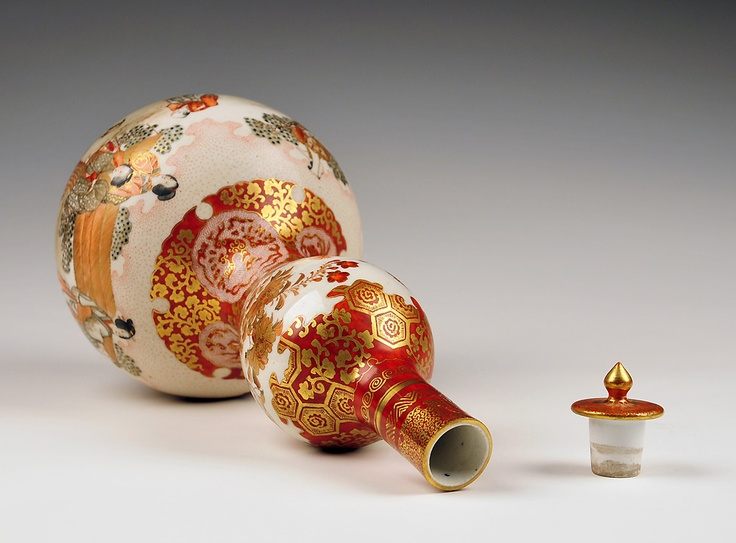 19th century Kutani stoppered bottle