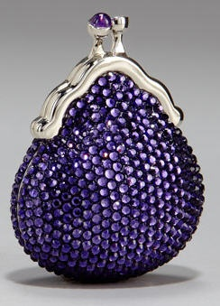 Purple | Porpora | Pourpre | Morado | Lilla | 紫 | Roxo | Colour | Texture | Pattern | Style | Form | Judith Leiber Clutch in Deep Lavender