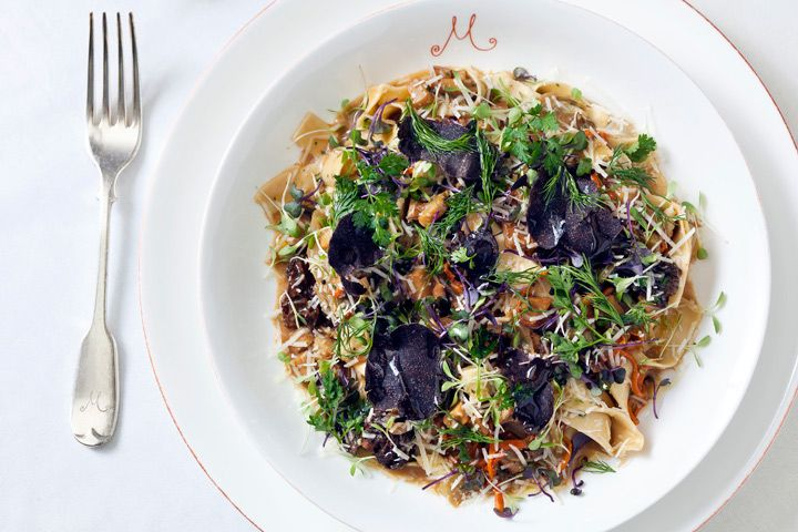Tagliatelle at M on the Bund. Go to the terrace for views over the river.