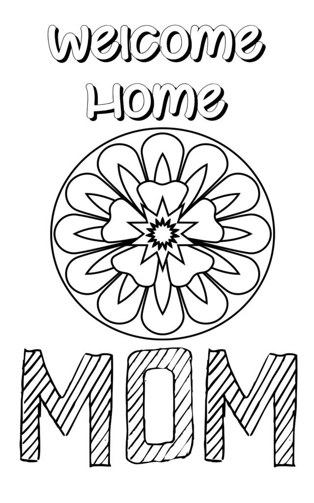 welcome back mom coloring pages  mom coloring pages