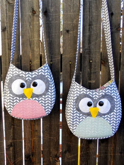 Just Another Hang Up :: Free pattern & tutorial for Crossbody Little Girl Owl Purse