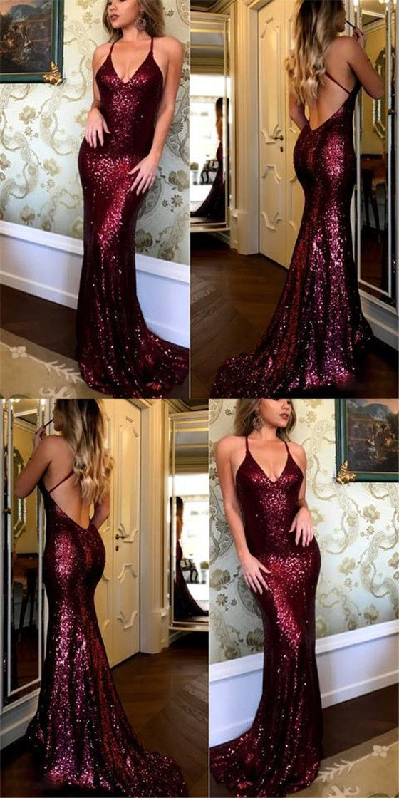 Sexy Spaghetti Mermaid Sequin Prom Dresses, Long Affordable Sparkle Prom Dresses #Sofiebridal #promdresses #sequin #mermaid #sexy
