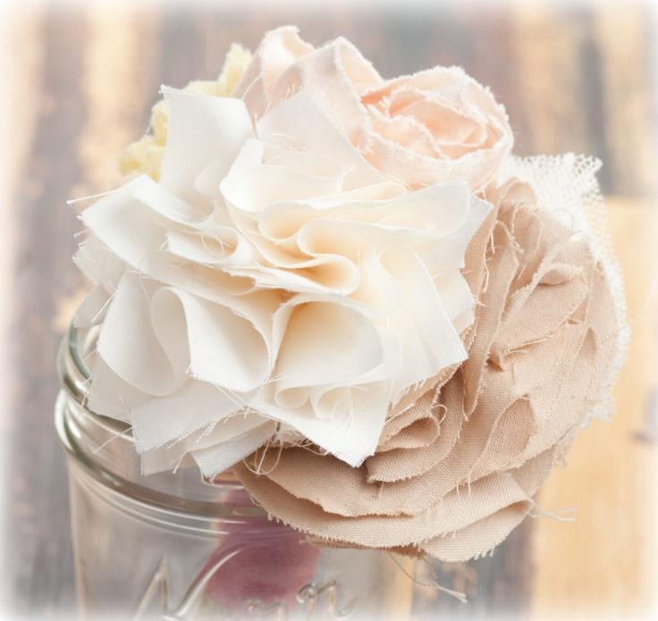 fabric flower posy